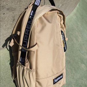 Supreme SS18 Tan Backpack